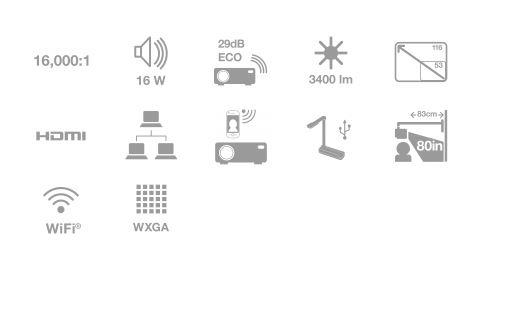 Videoproiector epson eb-535w, principalele benefici
