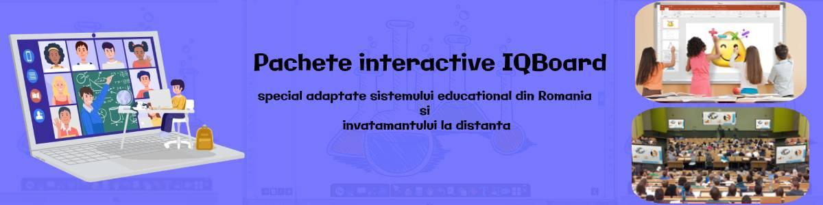 table si pachete interactive iqboard banner proiector 24