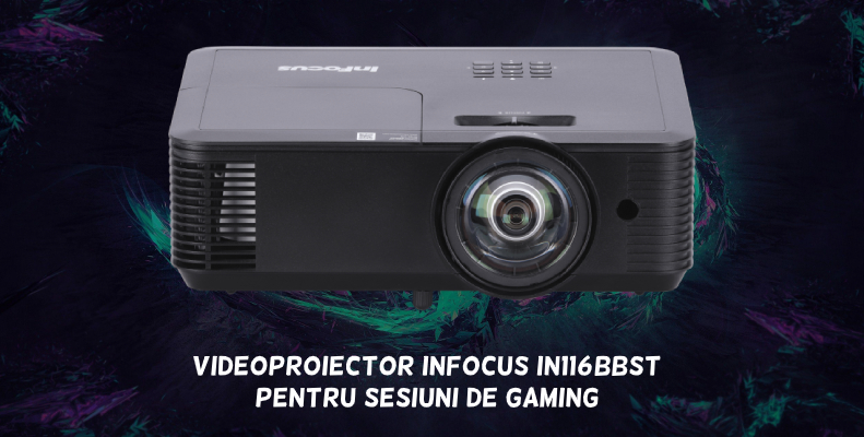 Videoproiector Infocus short-throw IN116BBST gaming