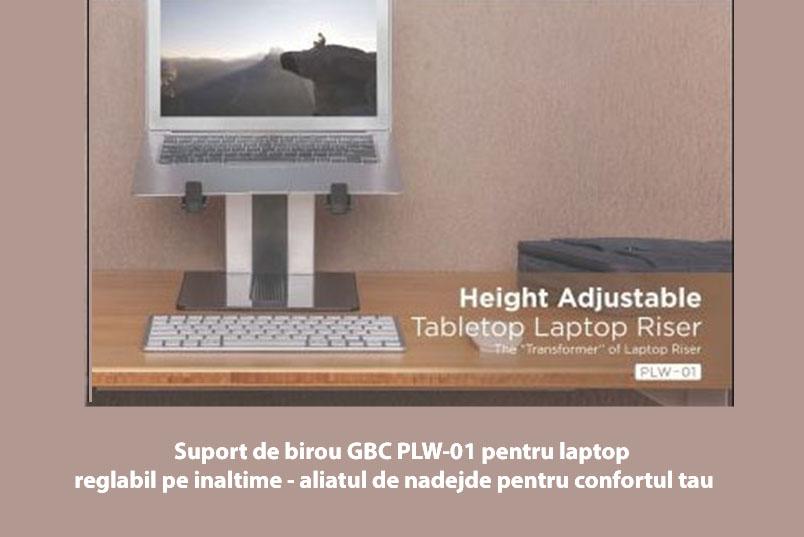 """Suport de birou pentru GBC PLW-01 laptop max 15.6"""""""