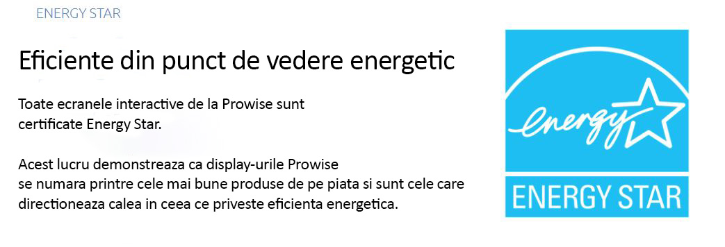 display interactiv prowise 75 inch certificare energie