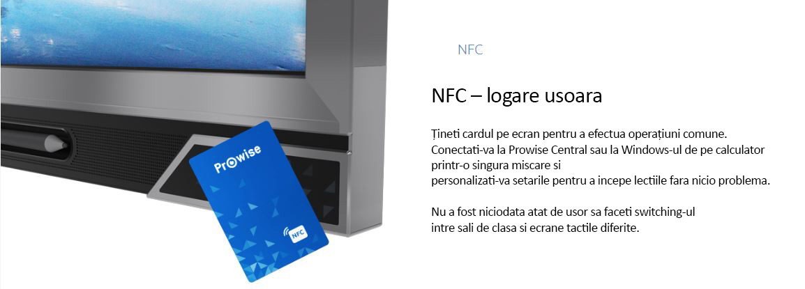 display interactiv prowise 75 inch logare nfc