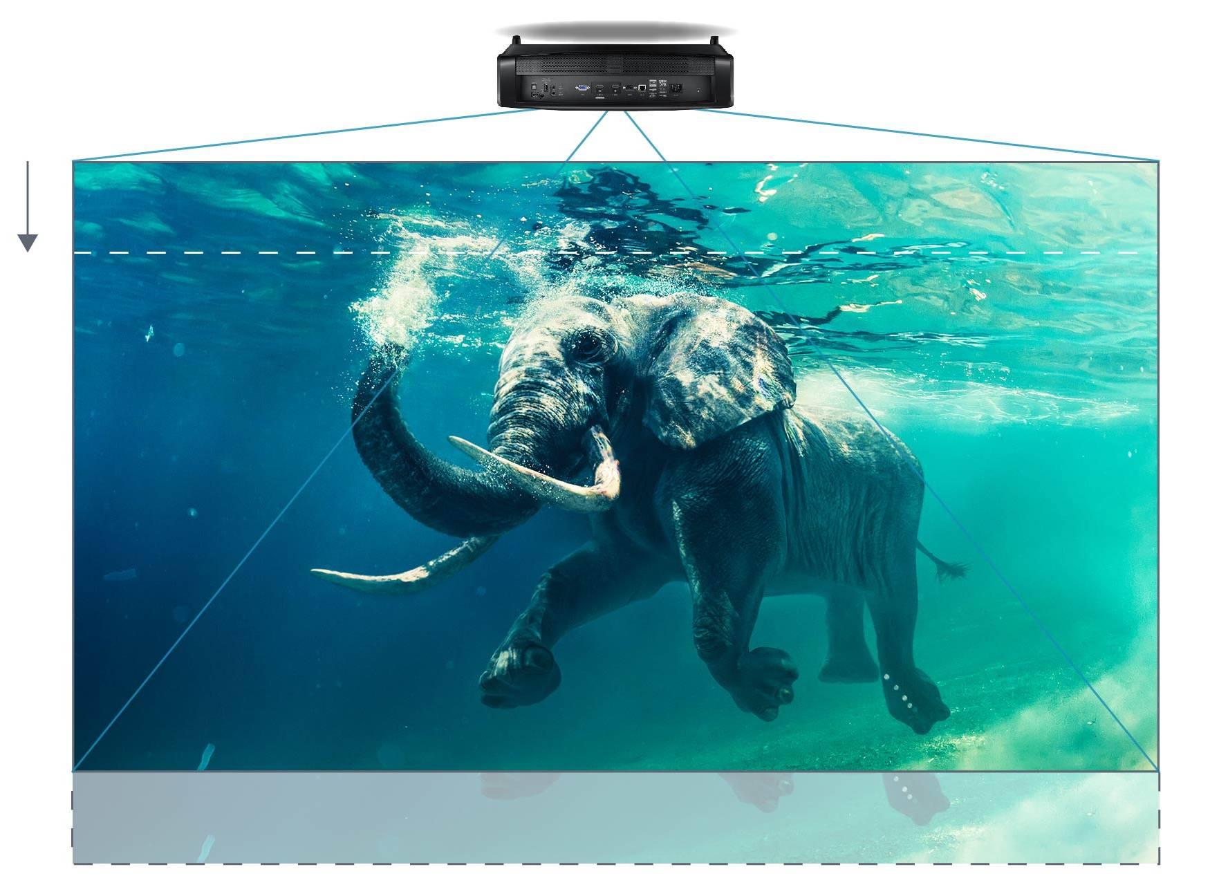 Videoproiector Optoma UHD380X instalare usoara lens shift