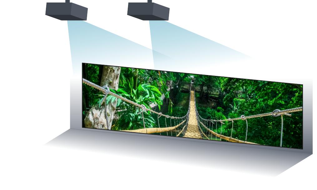videoproiector optima ZH420UST warping si edge blending
