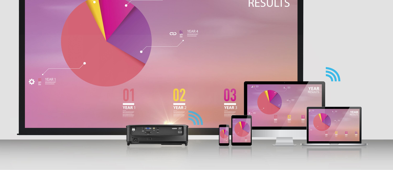 Videoproiector Optoma EH460ST, prezentari wireless