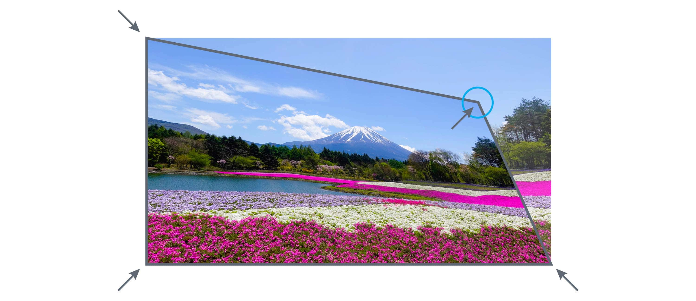 Videoproiector Optoma EH460ST, corectie in patru colturi