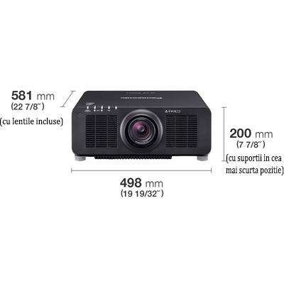 videoproiector panasonic PT-RZ120B schema dimensiuni