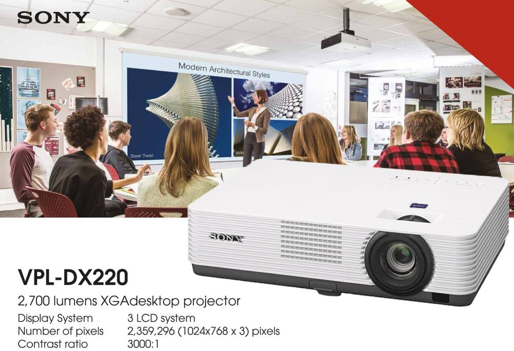 Videoproiector Sony VPL-DX220 3LCD sala clasa