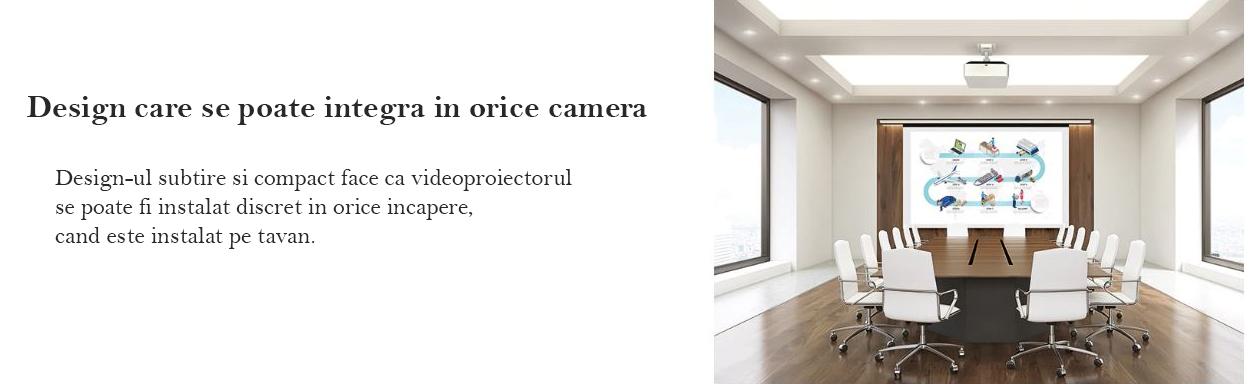 Videoproiector Sony VPL-FHZ70L design care se poate integra in orice camera