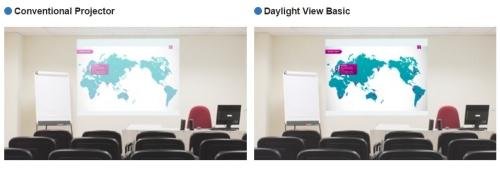 Videoproiector Panasonic PT-EX520L functia Daylight View Basic