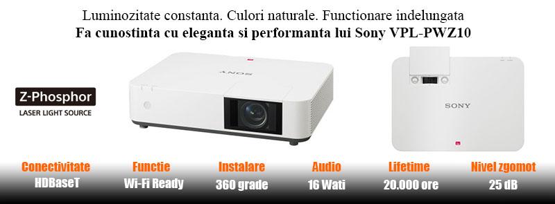 Videoproiector Sony VPL-PWZ10 puncte forte