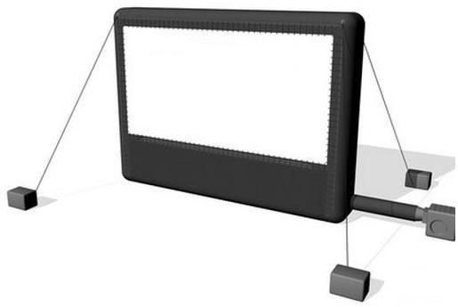 Ecran proiectie gonflabil videoproiector Airscreen Classic 20 x 10 m