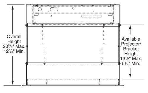 Carcasa de protectie suplimentara Draper Micro Projector Lift