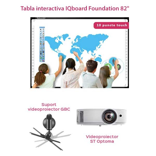 """Pachet Interactiv IQboard Foundation ST 82"""" - Curious Minds"""