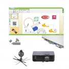 "Pachet interactiv IQboard Expert ST 101"" Visionary Minds cu pentray interactiv, incinte acustice integrate si adaptor wireless USB"