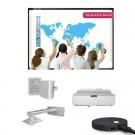 "Pachet interactiv IQboard Foundation UST 87"" Innovative Teaching cu incinte acustice si adaptor audio video wireless"