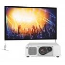 Pachet rental videoproiector panasonic PT-RZ570W si ecran da-lite NSCT90X160