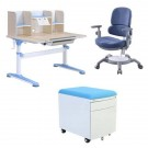 Set birou pentru copii reglabil SingBee culoare albastru
