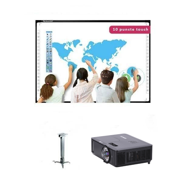 """Pachet interactiv IQboard Foundation 92"""" - Inspired videoproiector suport"""