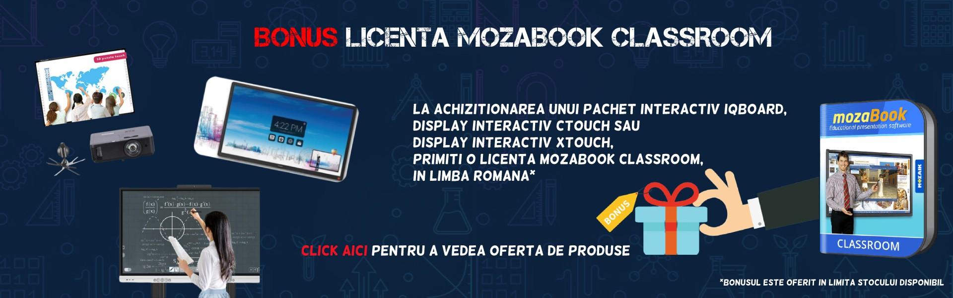 Bonus licenta mozabook classroom gama de produse